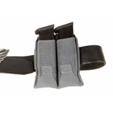 Belt Mounted Ten-Speed Double Pistol Magazine Pouch With Adjustable Belt Loop