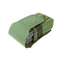 Double Sr25 Magazine Pouch With Flap by Blue Force Gear