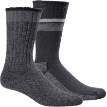 Durango/Hudson Bay Socks - 2 pack Mens - Black L/XL by Goodhew