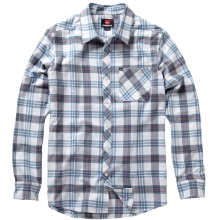Long Sleeve Octopus Soup Flannel Shirt Mens - White L by Quiksilver