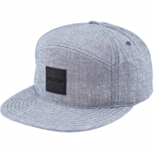 Snapper Chambray Snap Back Hat Mens - Steel Blue by Nixon