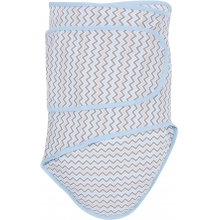 Miracle Blanket - Grey Chevrons with Blue Trim by MiracleWare in Bend OR
