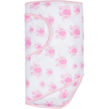 Miracle Blanket - Pink Elephants with Pink Trim