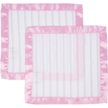 Security Blanket 2 Pack - Pink & Gray Stripes by MiracleWare