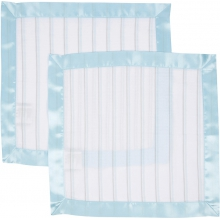 Security Blanket 2 Pack - Blue & Gray Stripes  by MiracleWare in Ashburn Va