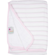 Serenity Blanket - Pink & Gray Stripes  by MiracleWare in Ashburn Va