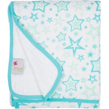 Serenity Blanket - Aqua Stars