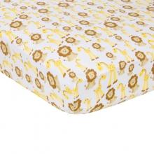 Crib Sheet  - Giraffes & Lions  by MiracleWare
