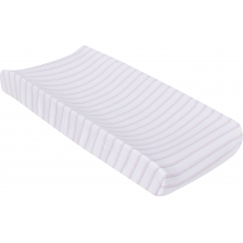 Changing Pad Cover - Pink & Gray Stripes