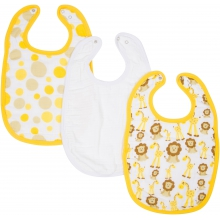 Bibs - Giraffes & Lions Adjustable Bib 3-Pack by MiracleWare in Ashburn Va