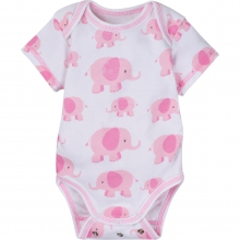 Bodysuits - Pink Elephant Adjustable Bodysuit Short-Sleeve 12-18 Month by MiracleWare in Ashburn Va