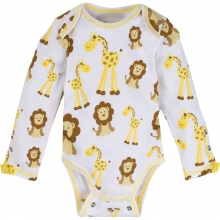 Adjustable Bodysuits - Giraffe & Lion Adjustable Bodysuit Long-Sleeve 6-12 Month by MiracleWare in Ashburn Va
