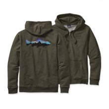 Men's Fitz Roy Trout MW Full-Zip Hooded Sweatshirt by Patagonia in Bend Or