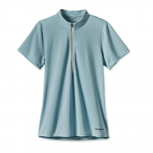Women'sShort-Sleeved Fore Runner Zip Neck