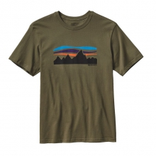 Men's Fitz Roy Banner Cotton T-Shirt by Patagonia in Omak Wa