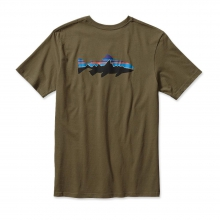 Men's Fitz Roy Trout Cotton T-Shirt by Patagonia in Ellicottville Ny