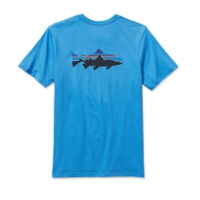 Men's Fitz Roy Trout Cotton T-Shirt by Patagonia in Great Falls Mt