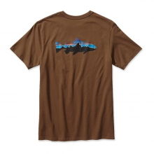 Men's Fitz Roy Trout Cotton T-Shirt by Patagonia in Ames Ia