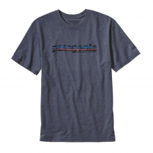 Men's '73 Text Logo Recycled Cotton/Poly Responsibili-Tee by Patagonia