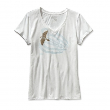 Women's Soaring Peregrine Cotton V-Neck T-Shirt in Bellingham, WA