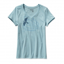Women's Soaring Peregrine Cotton V-Neck T-Shirt by Patagonia