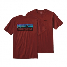 Men's P-6 Logo Cotton T-Shirt by Patagonia in Stowe Vt
