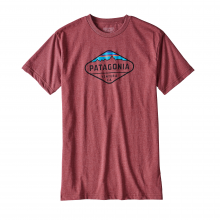 Men's Fitz Roy Crest Cotton/Poly T-Shirt by Patagonia in Stowe Vt