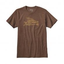 Men's Pinstripe Flying Fish Cotton/Poly T-Shirt by Patagonia