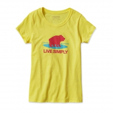 Girls' Graphic Cotton/Poly T-Shirt by Patagonia