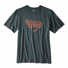 Men's Groovy Type Cotton T-Shirt by Patagonia