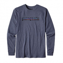 Men's L/S '73 Text Logo Cotton/Poly Responsibili-Tee by Patagonia