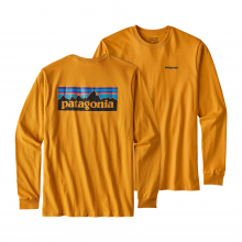 Men's L/S P-6 Logo Cotton T-Shirt by Patagonia in Charlotte Nc