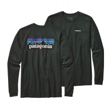 Men's L/S P-6 Logo Cotton T-Shirt by Patagonia in Stowe Vt