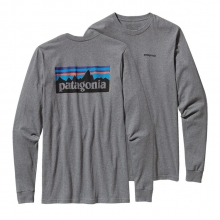 Men's L/S P-6 Logo Cotton T-Shirt by Patagonia in Branford Ct