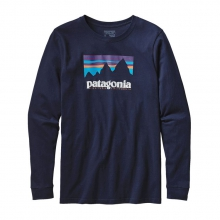 Men's L/S Shop Sticker Cotton T-Shirt by Patagonia in Omak Wa