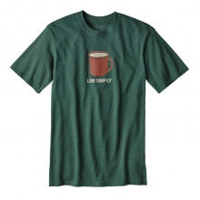 Men's Live Simply Mornings Cotton/Poly Responsibili-Tee