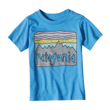 Baby Fitz Roy Skies Cotton/Poly T-Shirt by Patagonia