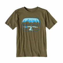 Boys' Pointed West Cotton/Poly T-Shirt by Patagonia