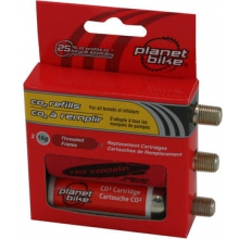 16-Gram CO2 Cartridge 3-Pack (Threaded) by Planet Bike