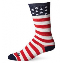 USA Flag Crew 6IN Cycling Sock - Red In Size by SockGuy
