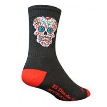 El Dia Crew 6IN Cycling Sock - Black In Size by SockGuy