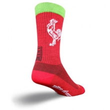 Sriracha Acrylic 6in. Cycling Sock - Red In Size by SockGuy