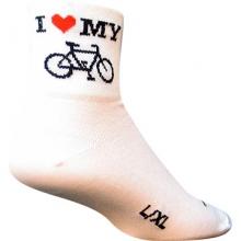 I Heart My Bike Socks by SockGuy