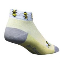 Bees Low Cut Cycling Sock - Women's - Yellow In Size: S-M by SockGuy