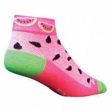 Watermelon Low Cut Cycling Sock - Women's - Pink In Size: S-M by SockGuy