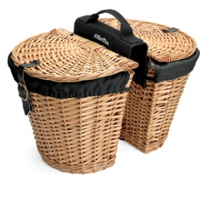 Rear Rack Wicker Baskets w/Removable Liners by Electra