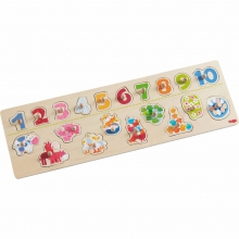 Clutching Puzzle Animals by number by HABA