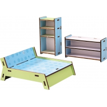 Little Friends - Dollhouse Furniture Bedroom by HABA