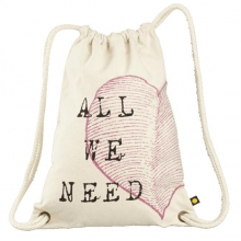 Women's Messaging Cinch Sack Heart by Life Is Good