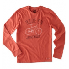 Ride On Bike Long Sleeve Crusher Tee - Men's - Earthy Rust In Size in Peninsula, OH